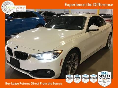 2018 BMW 4 Series for sale at Dallas Auto Finance in Dallas TX