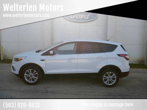 2017 Ford Escape for sale at Welterlen Motors in Edgewood IA