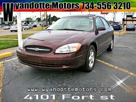 2001 Ford Taurus for sale at Wyandotte Motors in Wyandotte MI