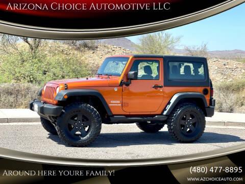 2011 Jeep Wrangler for sale at Arizona Choice Automotive LLC in Mesa AZ