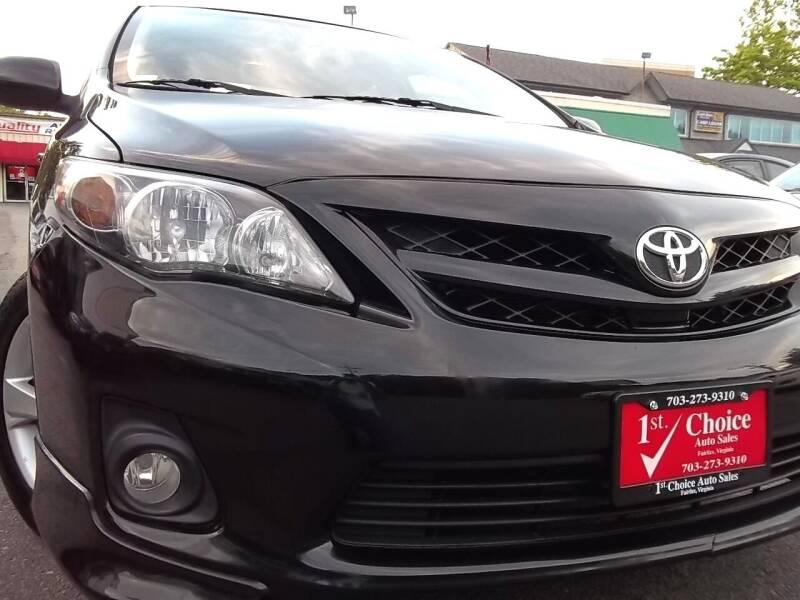 2012 Toyota Corolla for sale at 1st Choice Auto Sales in Fairfax VA