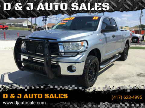 2011 Toyota Tundra for sale at D & J AUTO SALES in Joplin MO