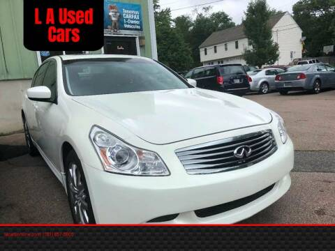 2009 Infiniti G37 Sedan for sale at L A Used Cars in Abington MA