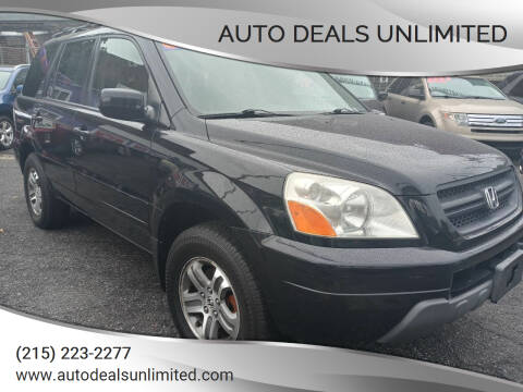 2004 Honda Pilot for sale at AUTO DEALS UNLIMITED in Philadelphia PA