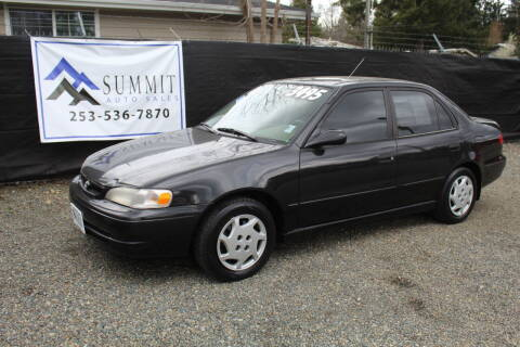 2000 Toyota Corolla for sale at Summit Auto Sales in Puyallup WA