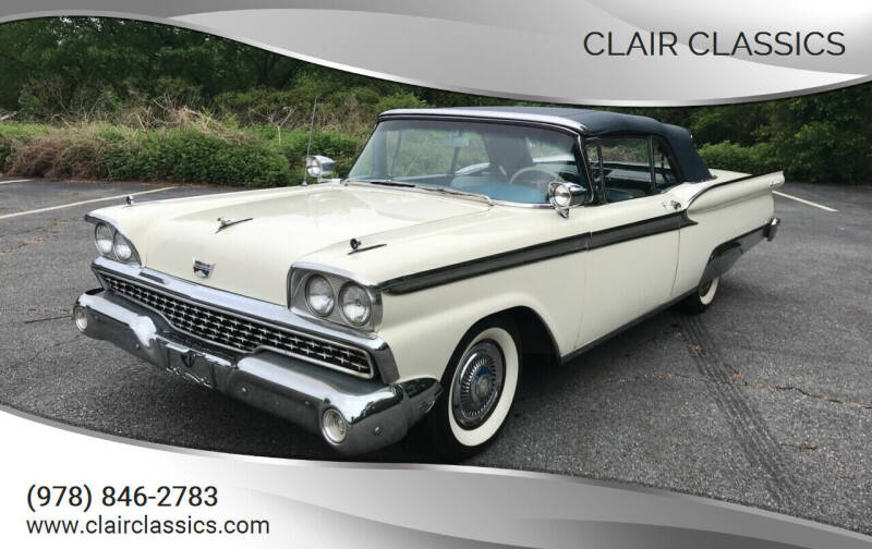 1959 Ford Galaxie 500 for sale at Clair Classics in Westford MA