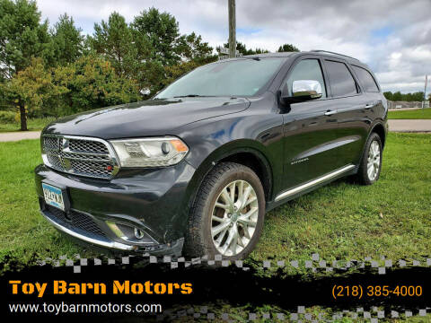 2014 Dodge Durango for sale at Toy Barn Motors in New York Mills MN