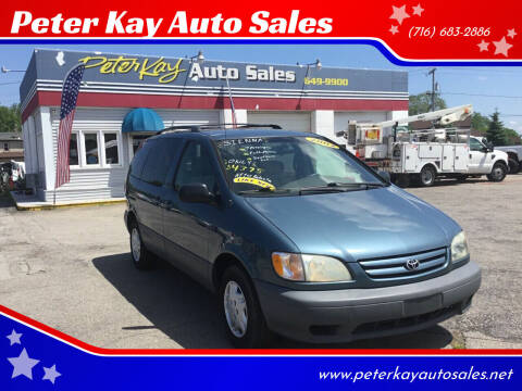 2002 Toyota Sienna for sale at Peter Kay Auto Sales in Alden NY