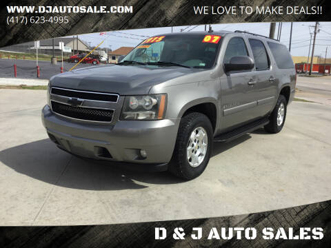 2007 Chevrolet Suburban for sale at D & J AUTO SALES in Joplin MO