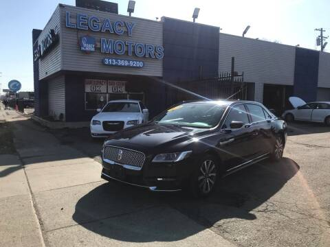 2018 Lincoln Continental for sale at Legacy Motors in Detroit MI