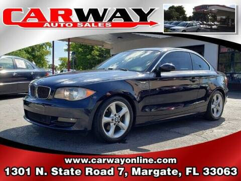 2009 BMW 1 Series for sale at CARWAY Auto Sales in Margate FL