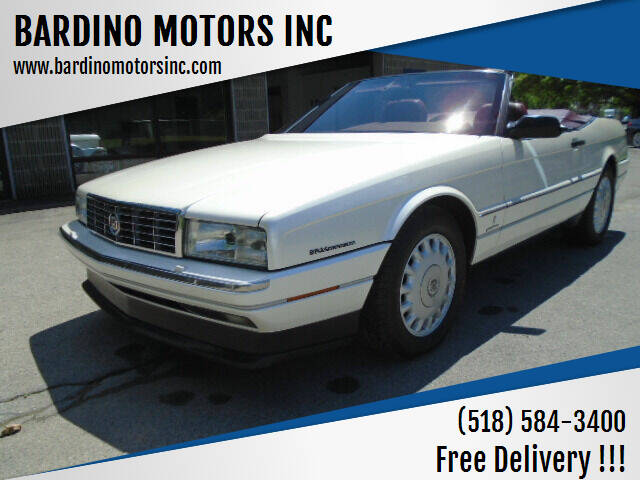 1993 Cadillac Allante for sale at BARDINO MOTORS INC in Saratoga Springs NY