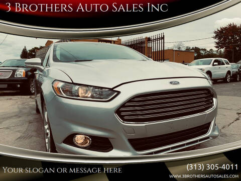 2013 Ford Fusion for sale at 3 Brothers Auto Sales Inc in Detroit MI