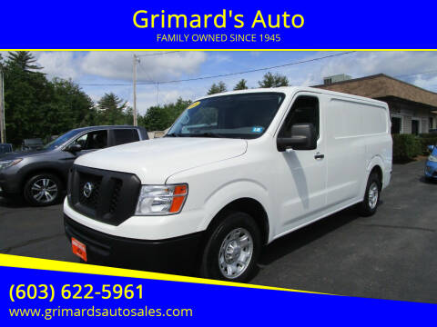 2016 Nissan NV Cargo for sale at Grimard's Auto in Hooksett NH