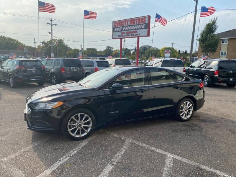 2017 Ford Fusion Hybrid for sale at Christy Motors in Crystal MN