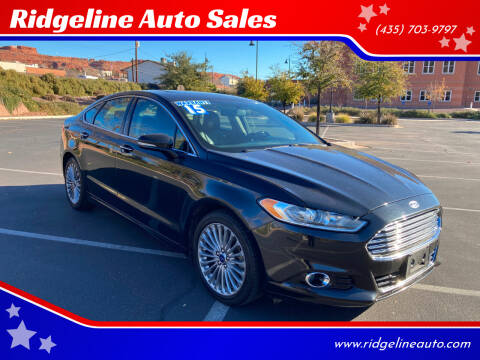2015 Ford Fusion for sale at Ridgeline Auto Sales in Saint George UT