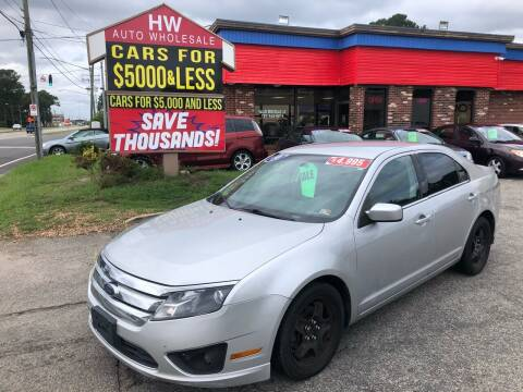 2010 Ford Fusion for sale at HW Auto Wholesale in Norfolk VA