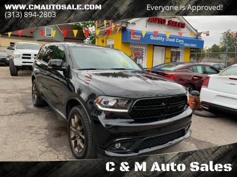 2016 Dodge Durango for sale at C & M Auto Sales in Detroit MI
