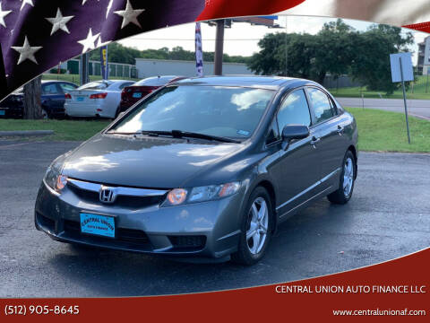 2010 Honda Civic for sale at Central Union Auto Finance LLC in Austin TX