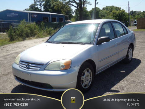 2002 Honda Civic for sale at M & M AUTO BROKERS INC in Okeechobee FL