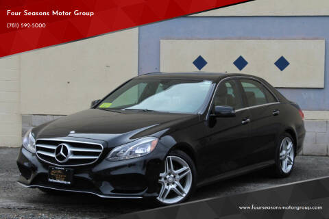 2014 Mercedes-Benz E-Class for sale at Four Seasons Motor Group in Swampscott MA