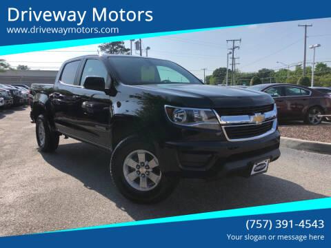 2019 Chevrolet Colorado for sale at Driveway Motors in Virginia Beach VA