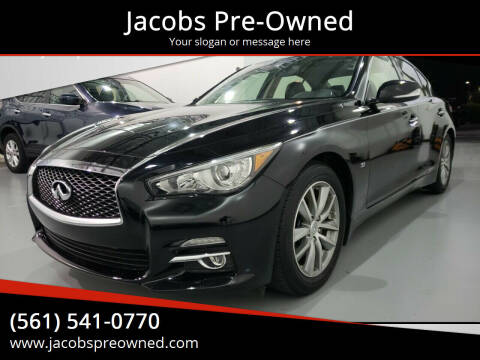 2015 Infiniti Q50 for sale at Jacobs Pre-Owned in Lake Worth FL