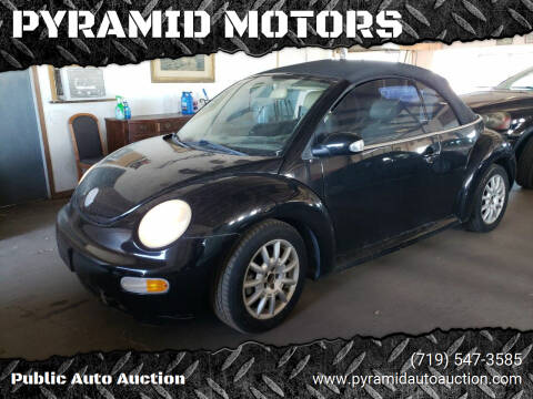 2005 Volkswagen New Beetle Convertible for sale at PYRAMID MOTORS - Pueblo Lot in Pueblo CO