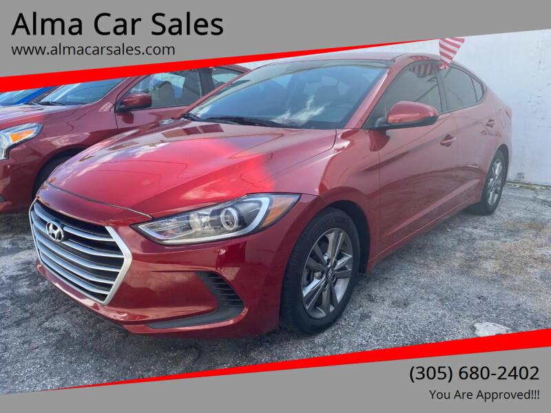 2017 Hyundai Elantra for sale at Alma Car Sales in Miami FL