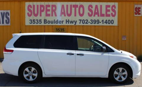 2011 Toyota Sienna for sale at Super Auto Sales in Las Vegas NV