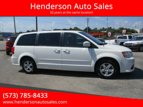 2013 Dodge Grand Caravan for sale at Henderson Auto Sales in Poplar Bluff MO