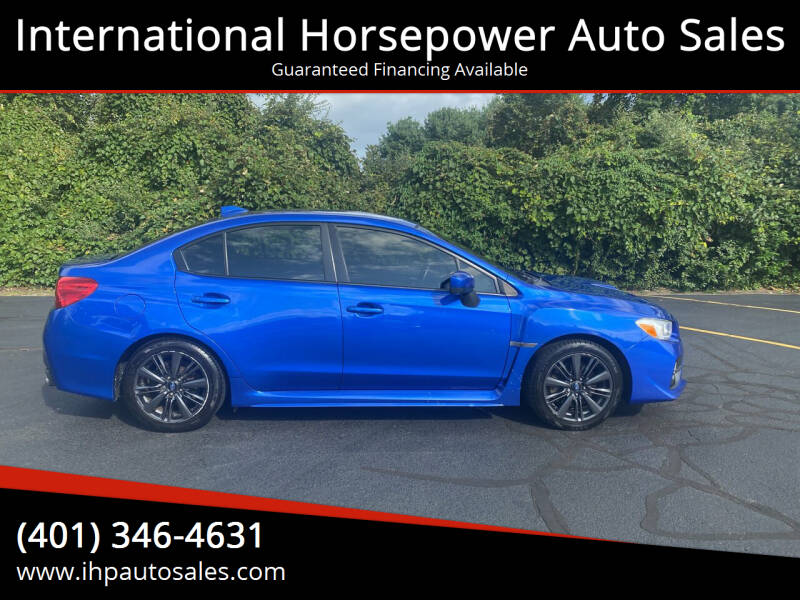 2015 Subaru WRX for sale at International Horsepower Auto Sales in Warwick RI