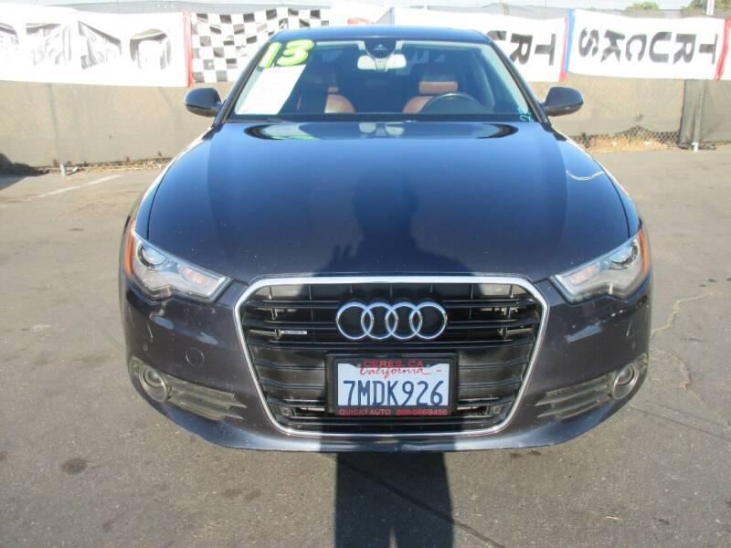 2013 Audi A6 for sale at Quick Auto Sales in Modesto CA