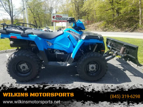 2017 Polaris Sportsman 450 w/ Plow for sale at WILKINS MOTORSPORTS in Brewster NY