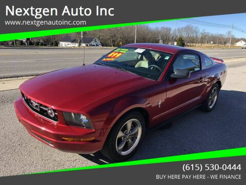 2006 Ford Mustang for sale at Nextgen Auto Inc in Smithville TN