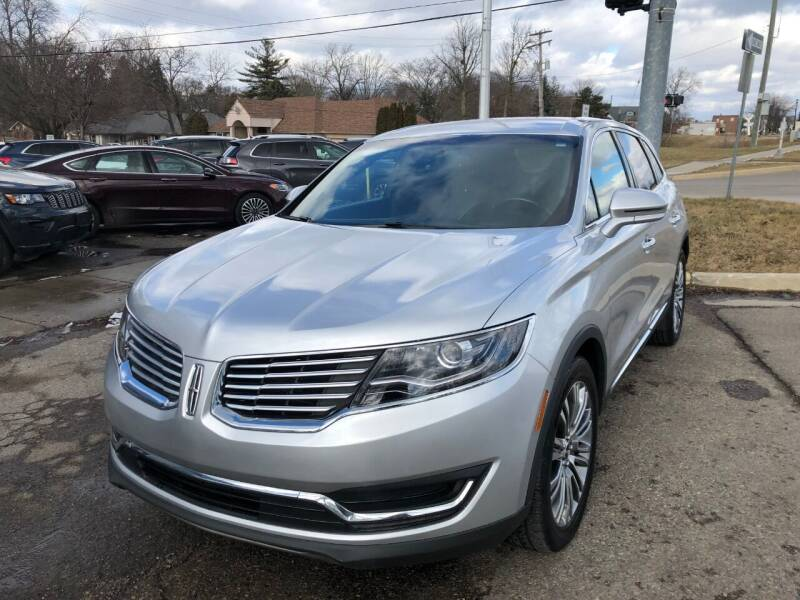 2017 Lincoln MKX for sale at One Price Auto in Mount Clemens MI