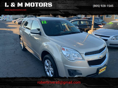 2012 Chevrolet Equinox for sale at L & M MOTORS in Santa Maria CA