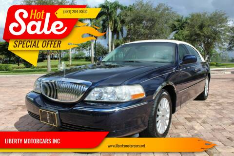 2003 Lincoln Town Car for sale at LIBERTY MOTORCARS INC in Royal Palm Beach FL