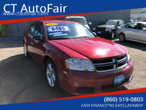 2013 Dodge Avenger for sale at CT AutoFair in West Hartford CT