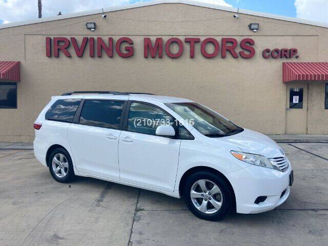2015 Toyota Sienna for sale at Irving Motors Corp in San Antonio TX