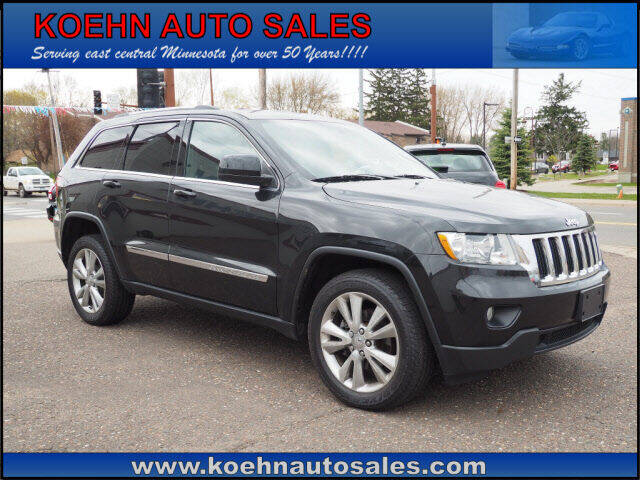 2012 Jeep Grand Cherokee for sale at Koehn Auto Sales in Lindstrom MN
