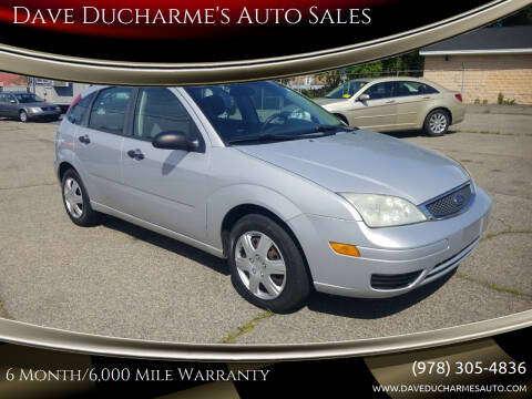 2006 Ford Focus for sale at Dave Ducharme's Auto Sales in Lowell MA