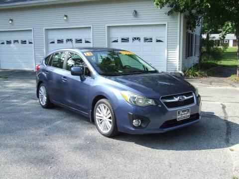 2012 Subaru Impreza for sale at DUVAL AUTO SALES in Turner ME