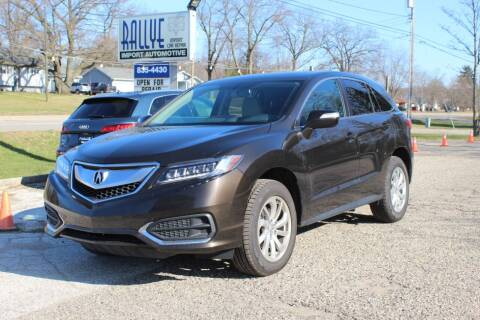 2018 Acura RDX for sale at Rallye Import Automotive Inc. in Midland MI