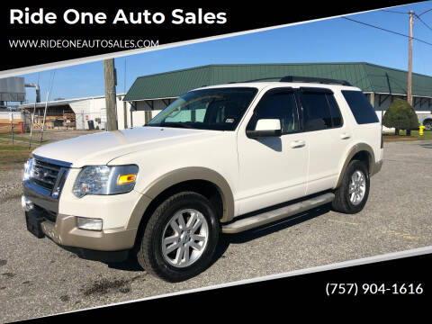 2010 Ford Explorer for sale at Ride One Auto Sales in Norfolk VA