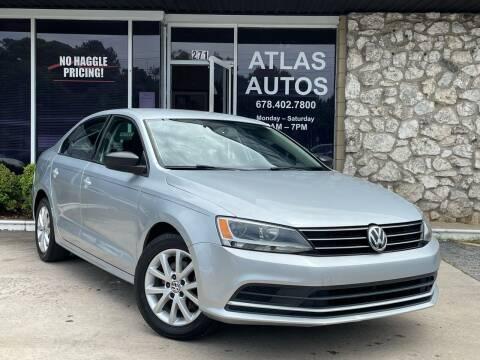 2015 Volkswagen Jetta for sale at ATLAS AUTOS in Marietta GA