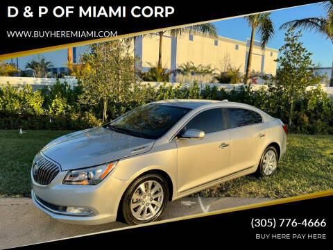 2015 Buick LaCrosse for sale at D & P OF MIAMI CORP in Miami FL