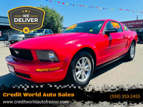 2008 Ford Mustang for sale at Credit World Auto Sales in Fresno CA