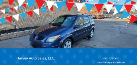 2003 Pontiac Vibe for sale at Harvey Auto Sales, LLC. in Flint MI
