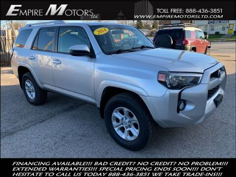 2014 Toyota 4Runner for sale at Empire Motors LTD in Cleveland OH
